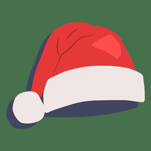 Sombrero rojo de santa claus icono de sombra 21