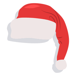 Red santa claus hat drop shadow icon 22