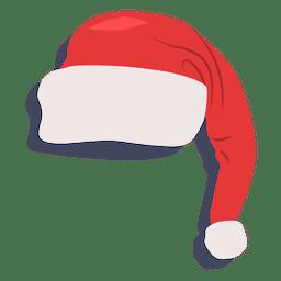 Sombrero de santa claus rojo icono de sombra 22
