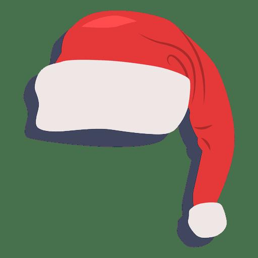 Sombrero rojo de santa claus icono de sombra 22