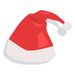 Red santa claus hat drop shadow icon 23