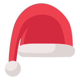 Red santa claus hat flat icon 15