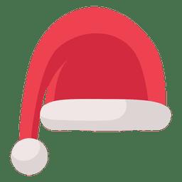 Sombrero de santa claus rojo icono plana 15