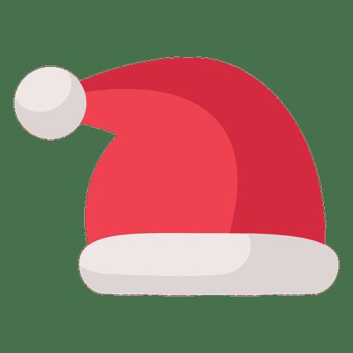 Red santa claus hat flat icon 17