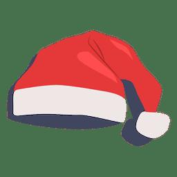 Ícone plana de chapéu de Papai Noel vermelho 18