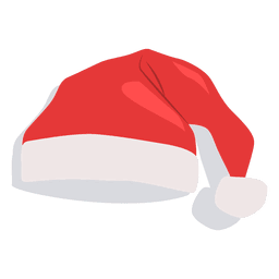 Red santa claus hat flat icon 18