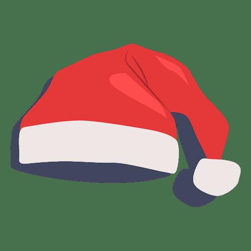 Icono plano de sombrero rojo de santa claus 18