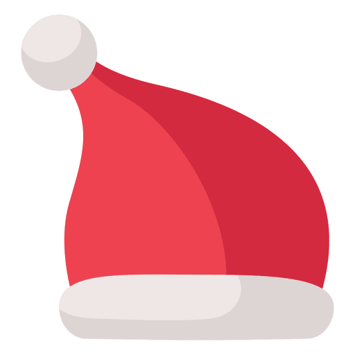 8b00c458d0100 Red santa claus hat flat icon 9 - Transparent PNG   SVG vector
