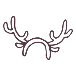 Reindeer antler costume hand drawn icon 48