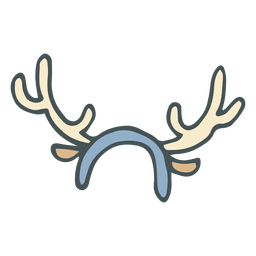 Reindeer antler headband hand drawn cartoon icon 41