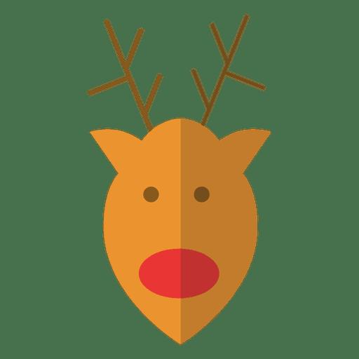 Reindeer head cartoon icon 18
