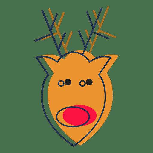 Reindeer head cartoon icon 37