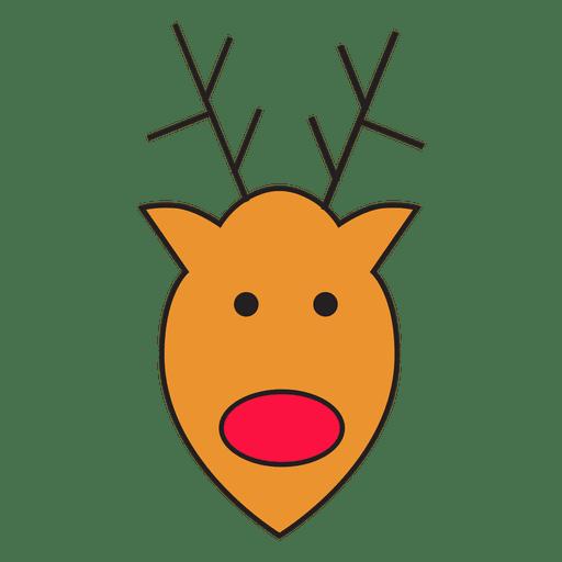 Reindeer head cartoon icon 53