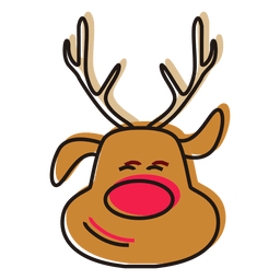 Reindeer Head Cartoon Vector