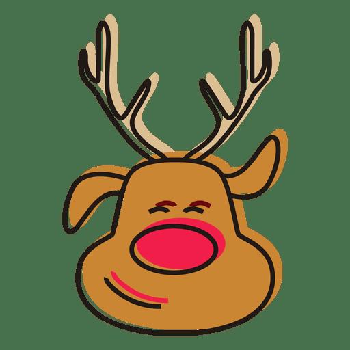 Vector de dibujos animados de cabeza de reno Transparent PNG
