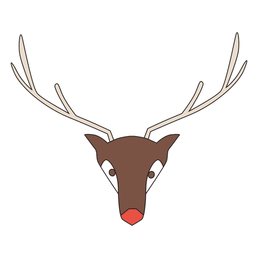 Geometrical Reindeer Head Cartoon Transparent PNG