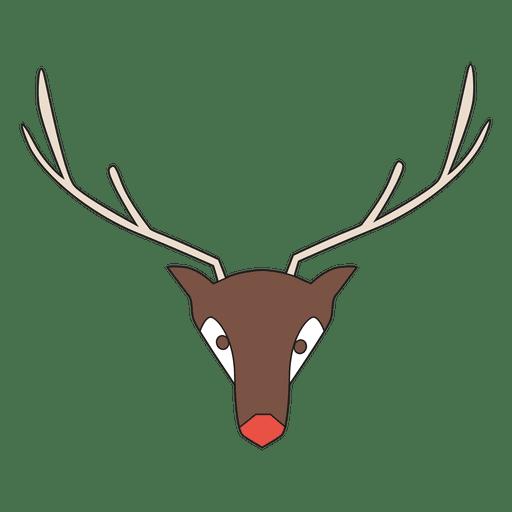 Geometrical Reindeer Head Cartoon