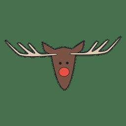 Reindeer head cartoon icon 26
