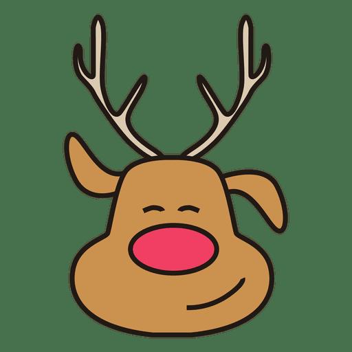 Dibujos animados de cabeza de Rudolph Transparent PNG