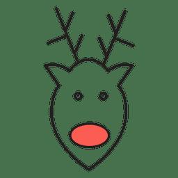 Reindeer head cartoon icon 49