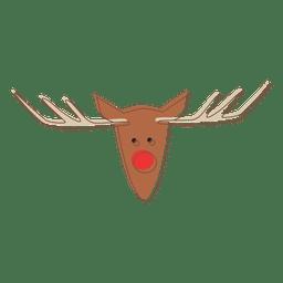 Reindeer head cartoon icon 66