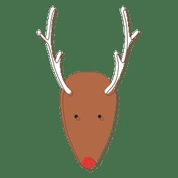Reindeer head cartoon icon 73
