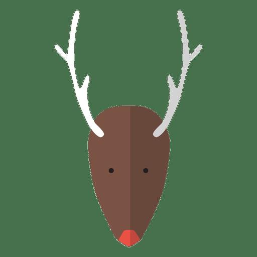 Reindeer head flat icon 24