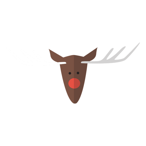 Reindeer head flat icon 6