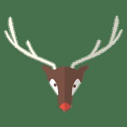 Reindeer head flat icon 7