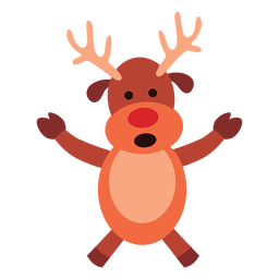 Reindeer arms spread talking 68