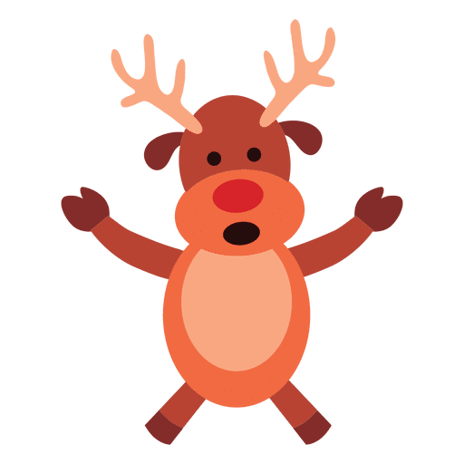 Reindeer arms spread talking 68 Transparent PNG