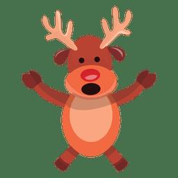 Braços de desenhos animados de rena espalhar falando 73