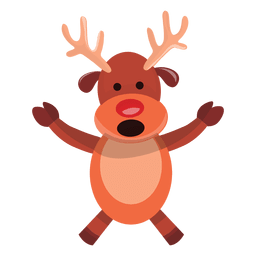 Reindeer cartoon arms spread talking 73