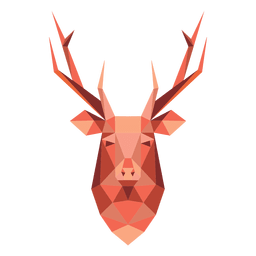 Cabeça de desenho animado de rena 46