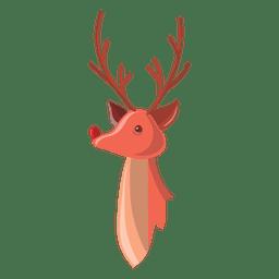 Reindeer cartoon head 64