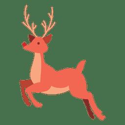 Desenho de rena pulando 02