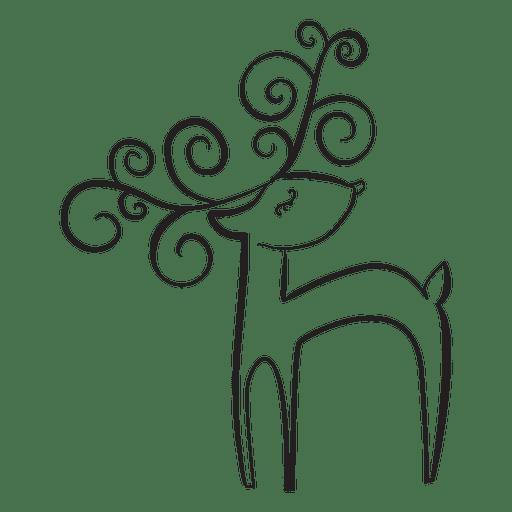 reindeer cartoon outline standing 41 transparent png svg vector