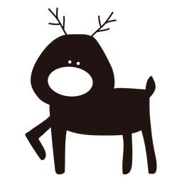 Reindeer cartoon silhouette standing 29