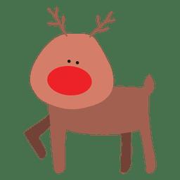 Reindeer cartoon standing 09