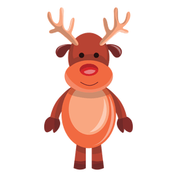 Reindeer cartoon standing 71