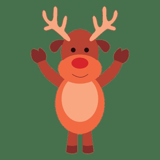 Reindeer cartoon waving hello 07