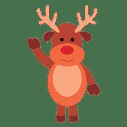 Desenho de rena acenando olá 66