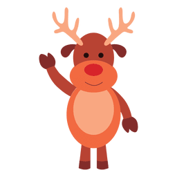 Reindeer cartoon waving hello 66