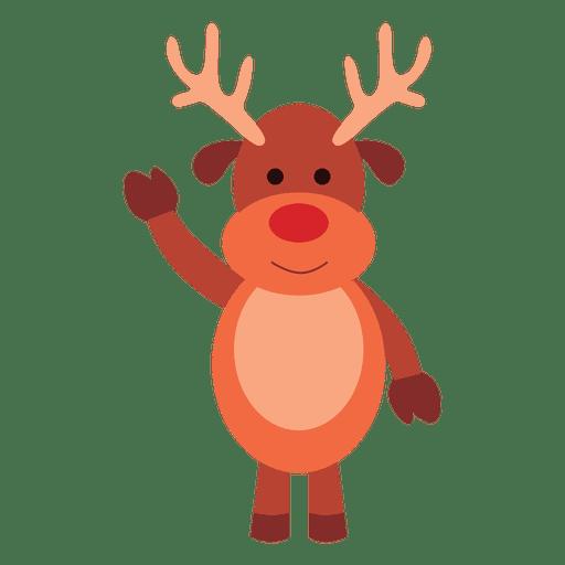 Reindeer cartoon waving hello 66
