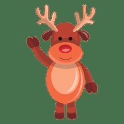 Desenho de rena acenando olá 72