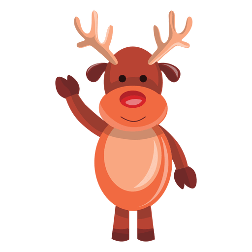 Reindeer cartoon waving hello 72