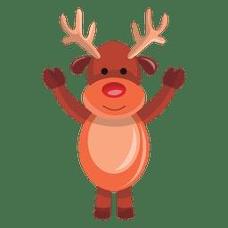 Dibujos animados de renos agitando hola 74