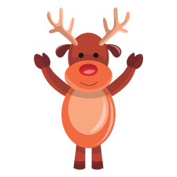 Reindeer cartoon waving hello 74