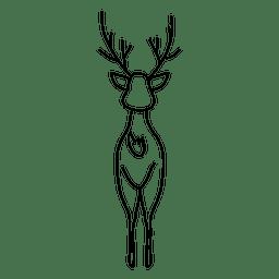Mano de reno dibujada hacia adelante 39