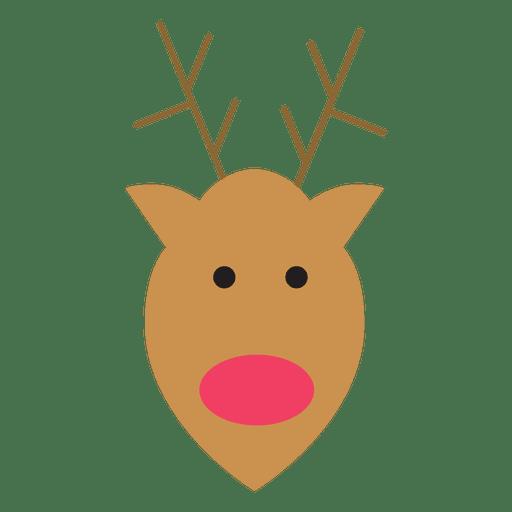 Reindeer head flat icon 71